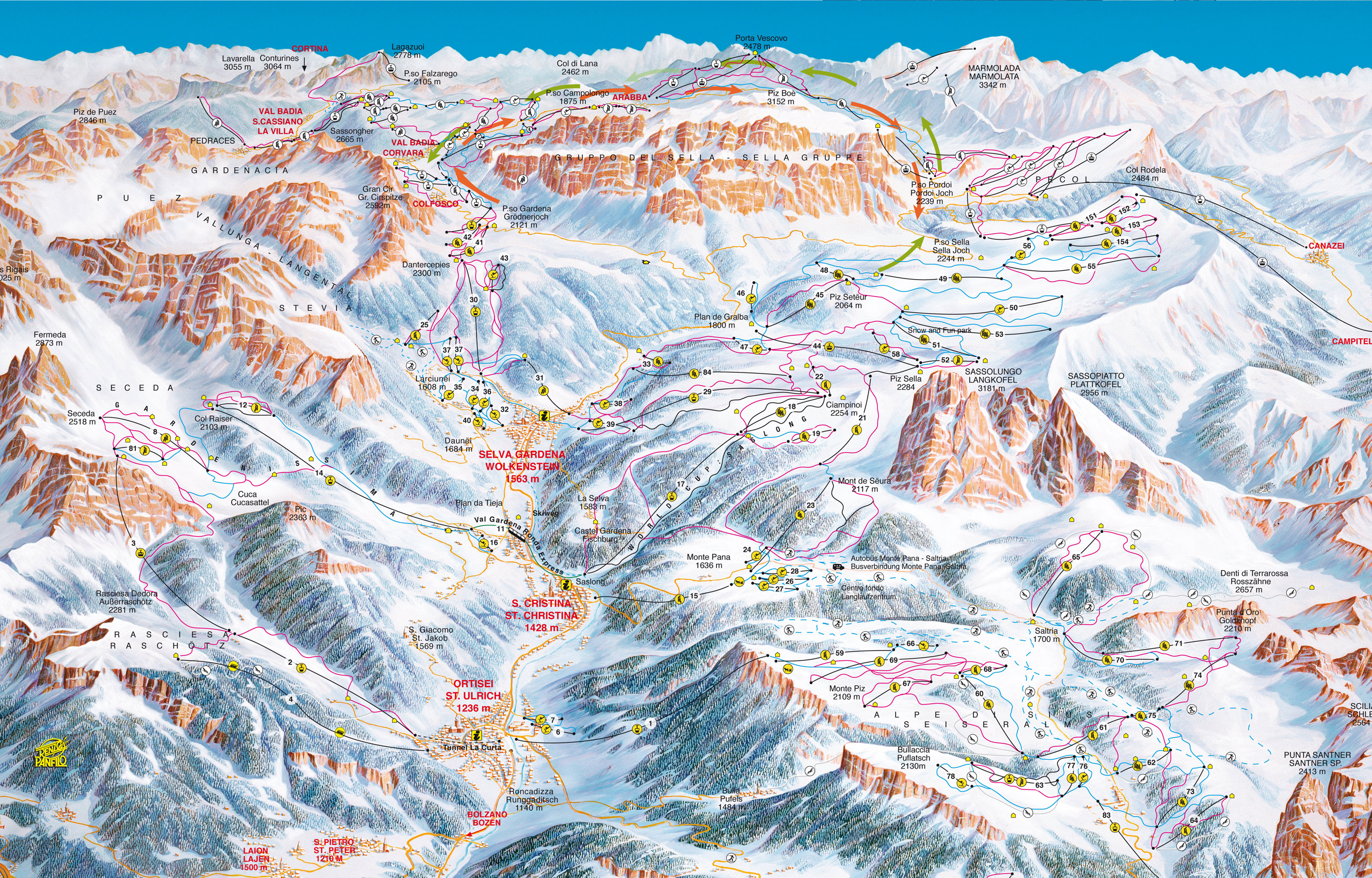 Selva piste map