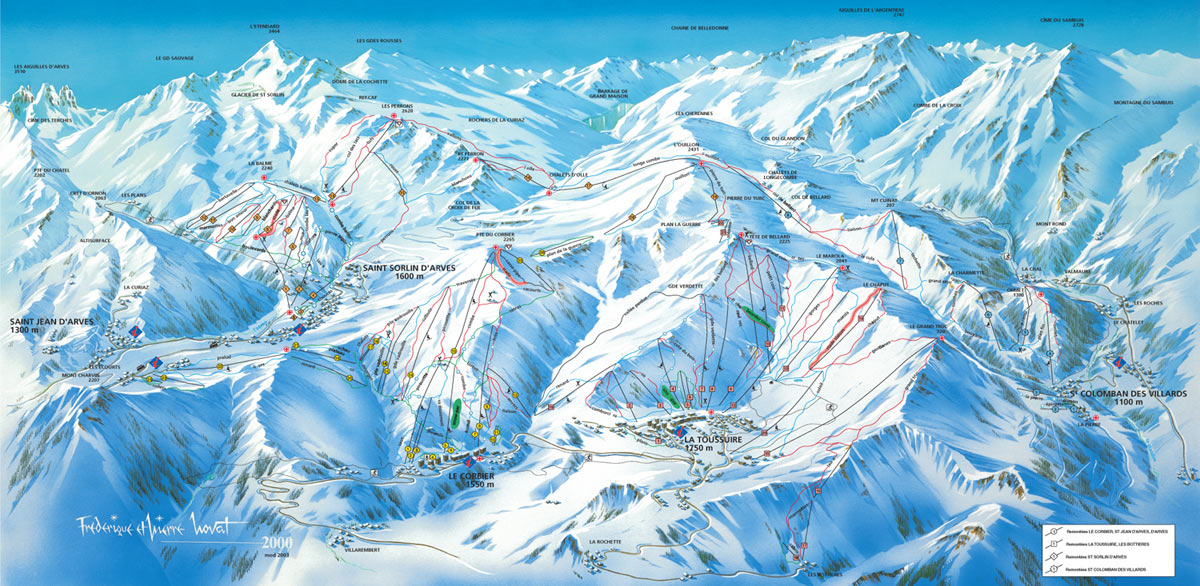 La Toussuire piste map