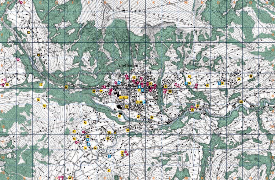 Maps of Adelboden ski resort in Switzerland SNO
