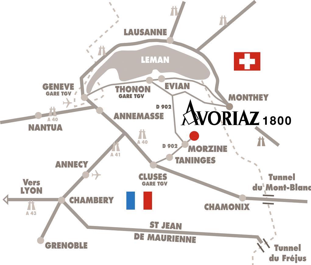 Maps of Avoriaz ski resort in France SNO