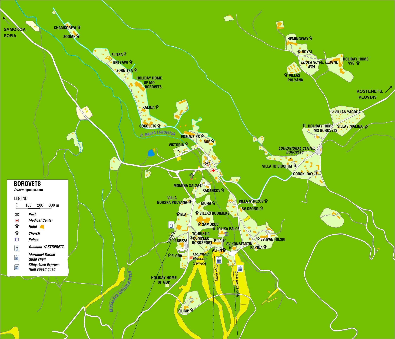 Maps Of Borovets Ski Resort In Bulgaria Sno