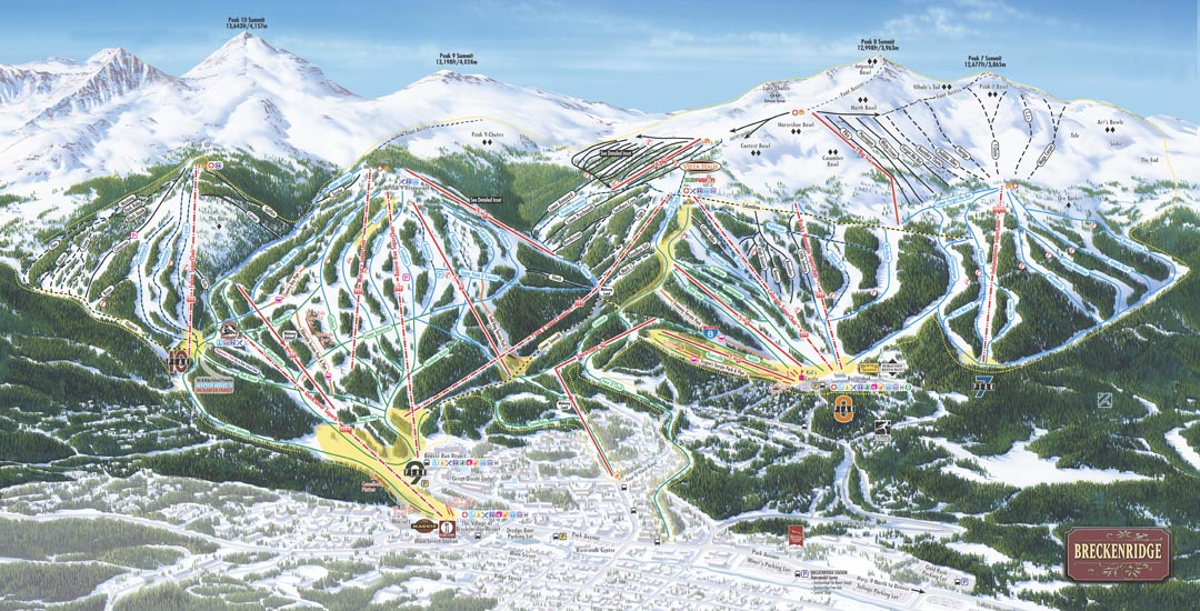piste map Breckenridge