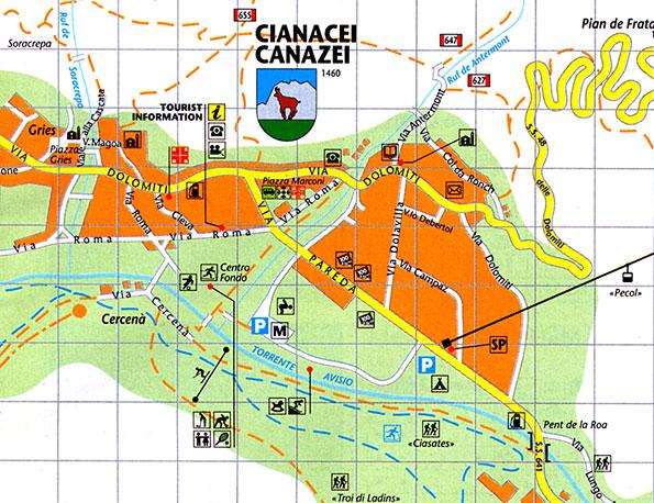 Maps Of Canazei Ski Resort In Italy Sno