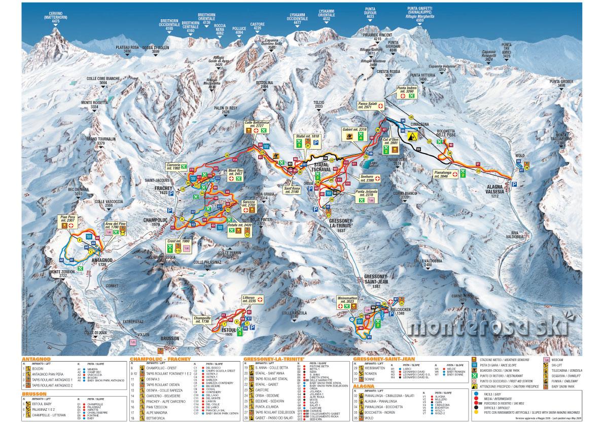 piste map Champoluc