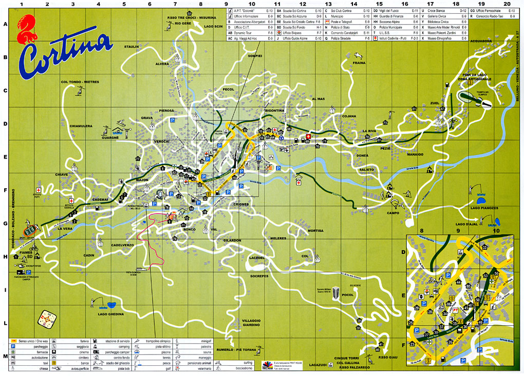 Maps Of Cortina Ski Resort In Italy Sno