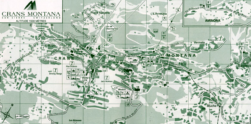 Maps of Crans Montana ski resort in Switzerland SNO