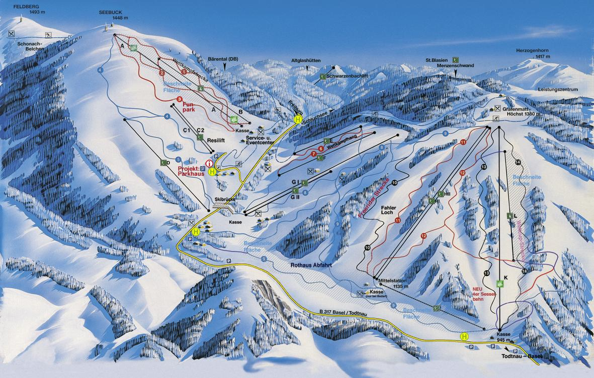 Feldberg piste map