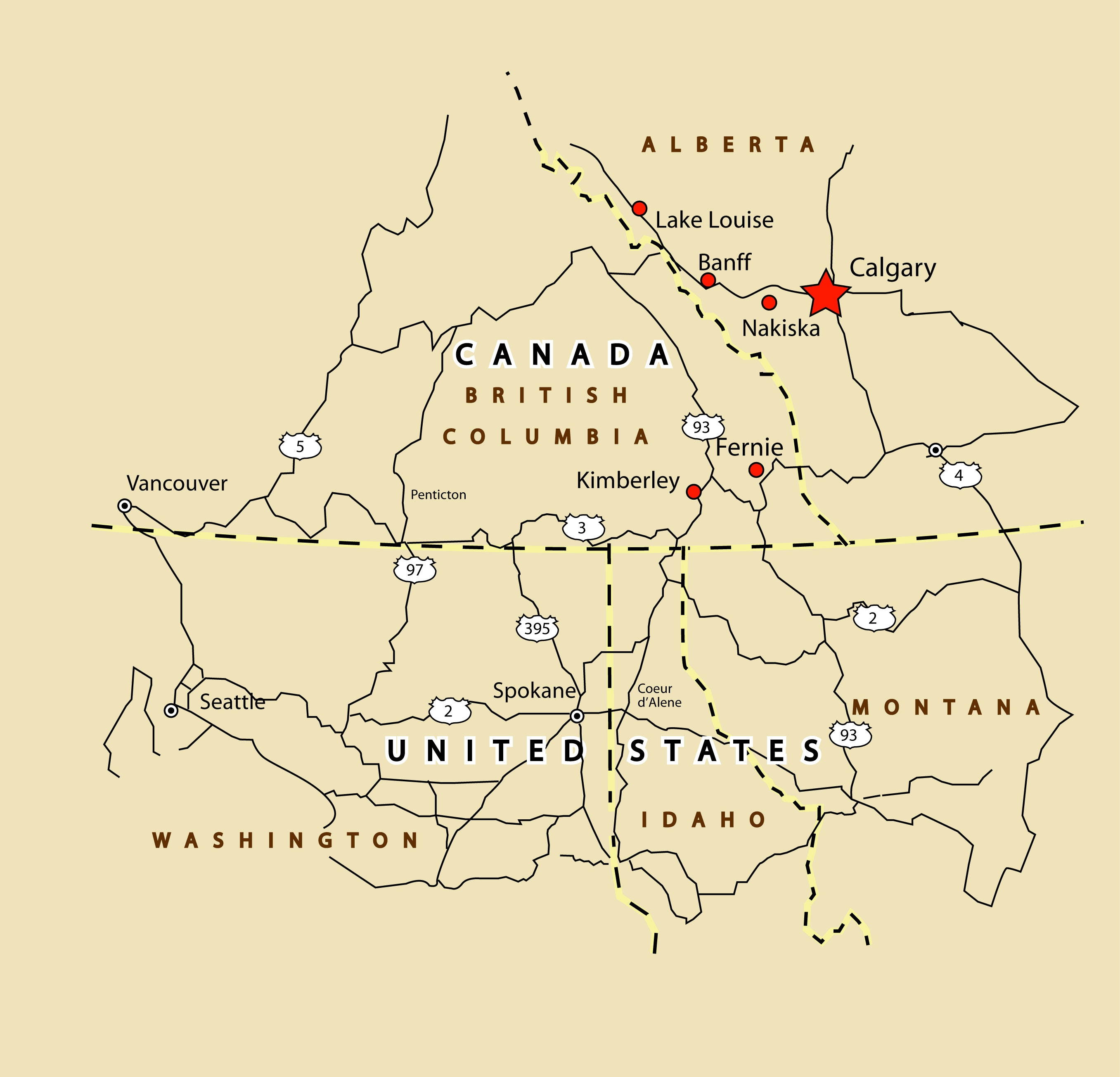 Map Fernie Canada Maps of Fernie ski resort in Canada   SNO ®