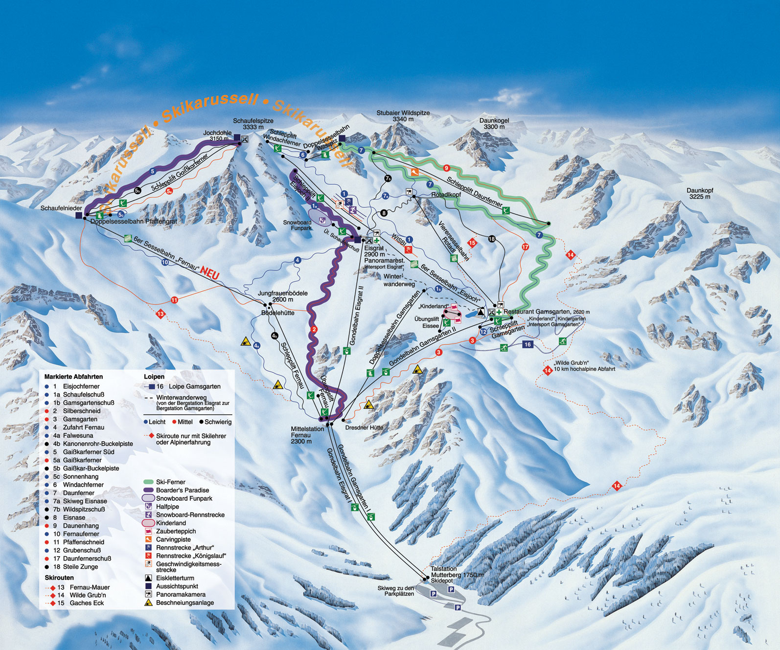 Fulpmes Austria  City new picture : Fulpmes Routes main terrain diagram for local mountain area CLICK ...