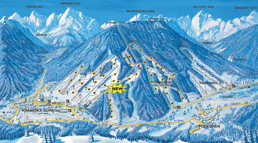 piste map Kranjska Gora