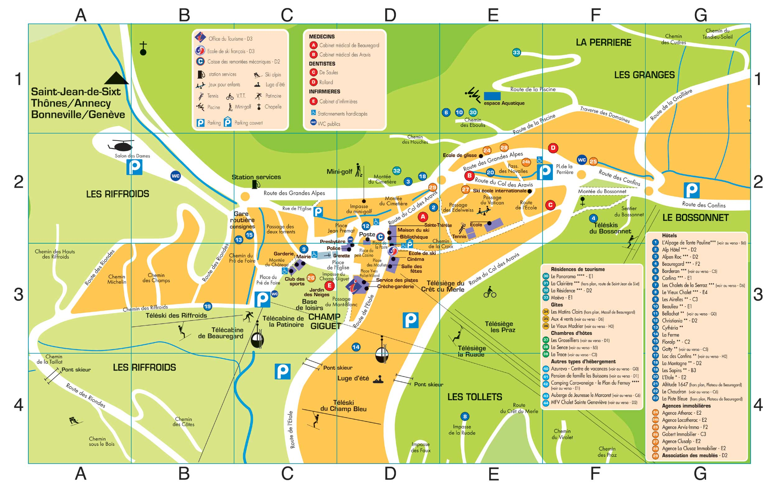 Maps of La Clusaz ski resort in France SNO