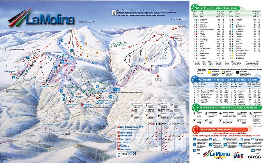 La Molina piste map