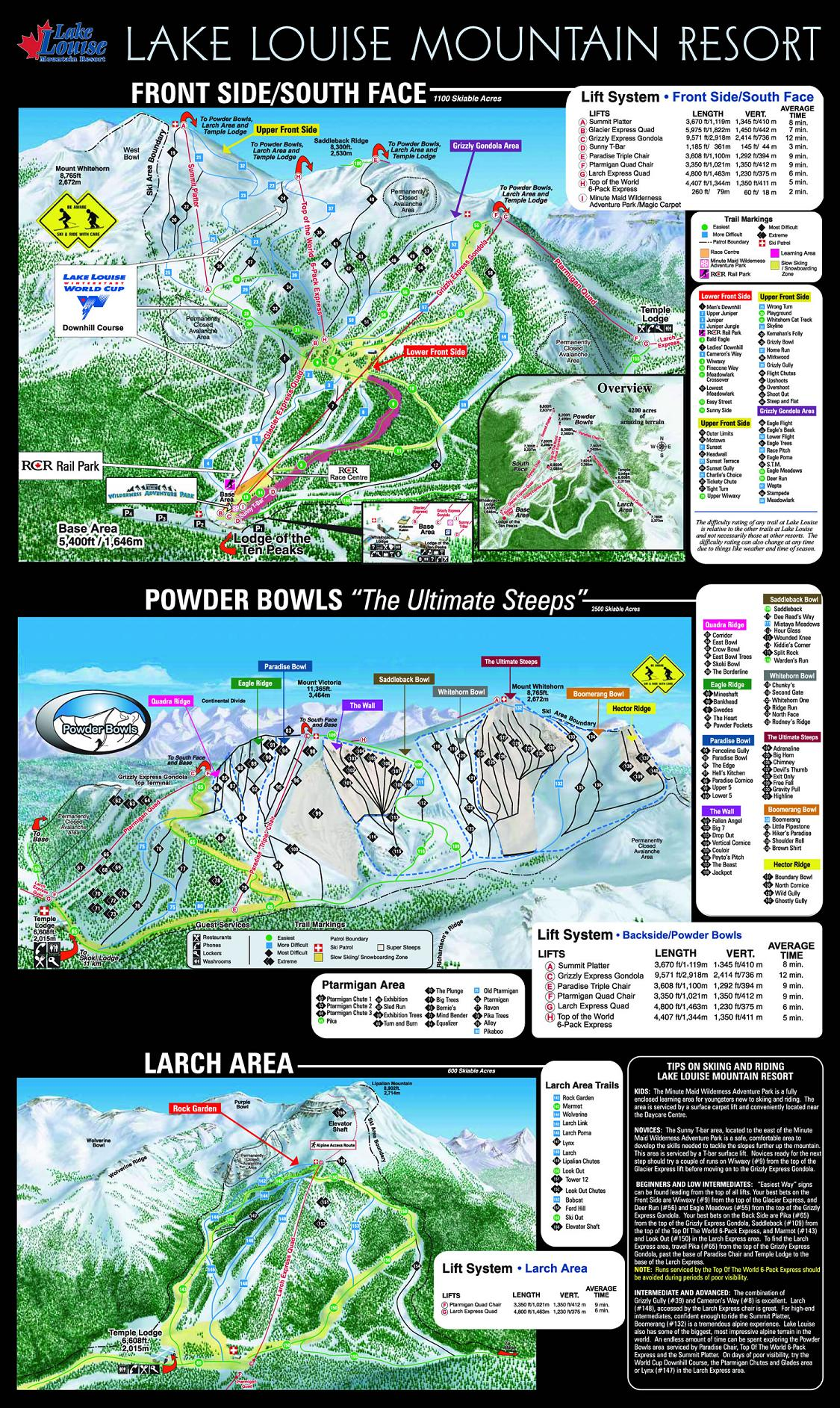 piste map Lake Louise