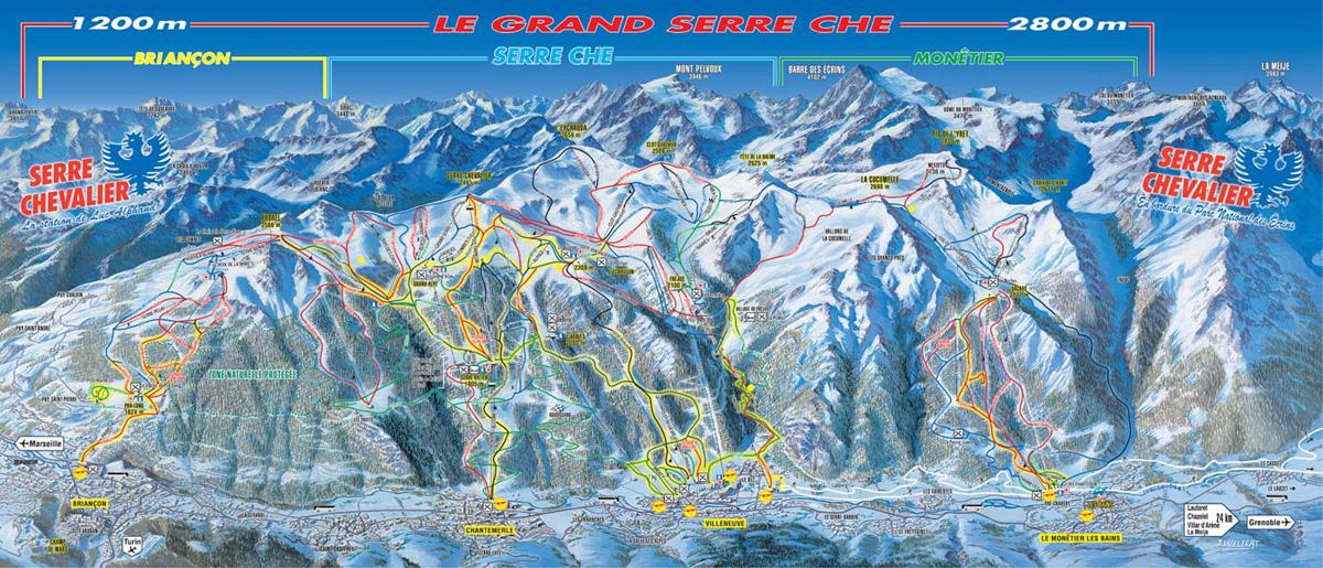 L 39 alpe du grand serre piste map trails marked ski runs - Office du tourisme alpes du grand serre ...