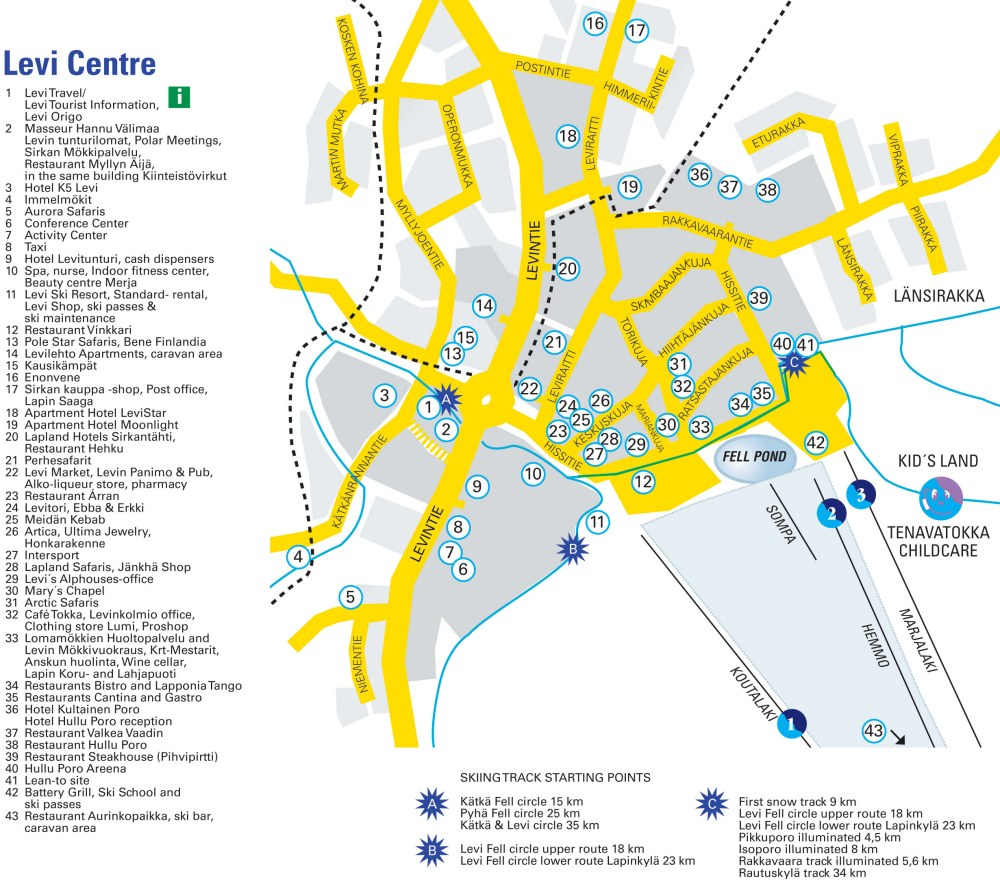 Maps of levi ski resort in finland sno airport sciox Image collections
