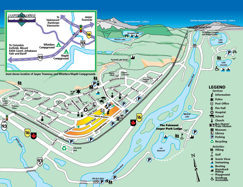 Maps of Jasper ski resort in Canada  SNO