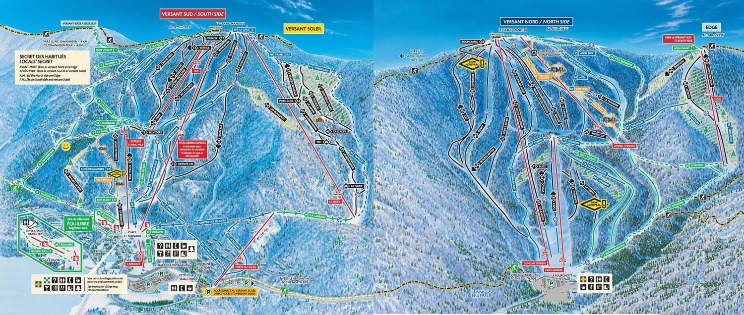 piste map Mont Tremblant