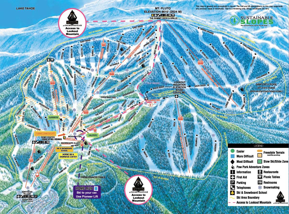 Northstar-at-Tahoe Piste Map | trails & marked ski runs | SNO
