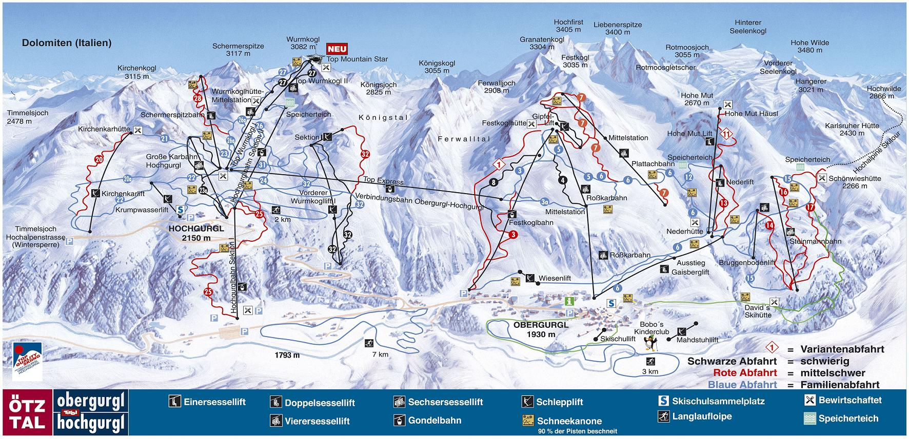 piste map Obergurgl