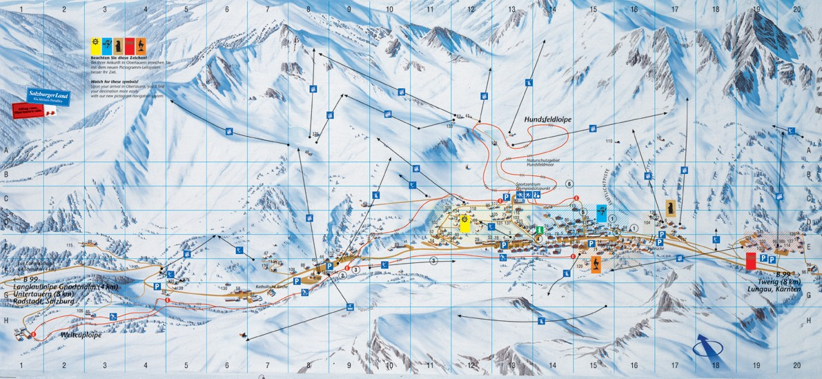 Maps Of Obertauern Ski Resort In Austria Sno