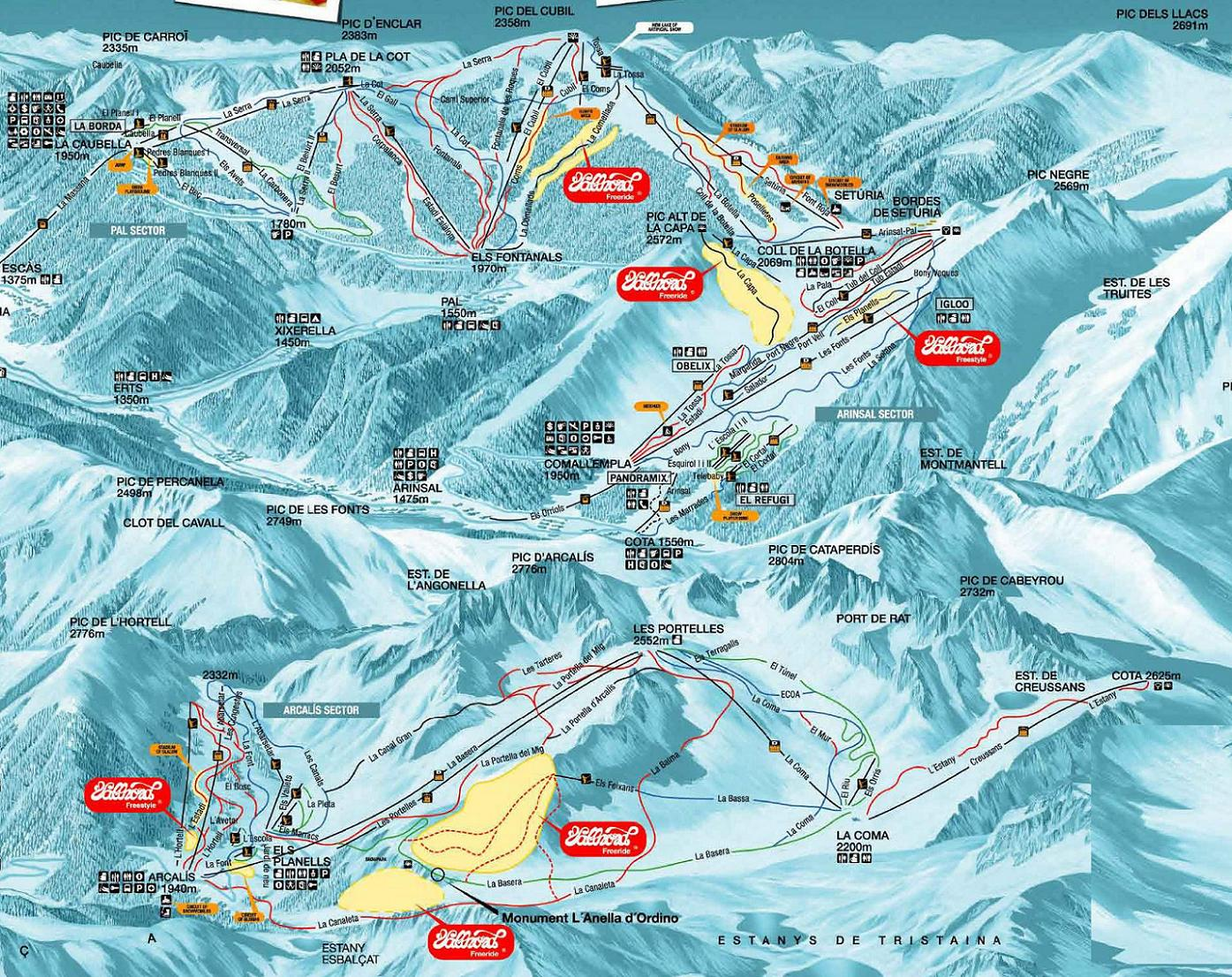 andorra ski resorts map with Piste Map Pal Ski Maps on Zermatt besides Solden in addition Schladming furthermore Ski Map in addition El Tarter.