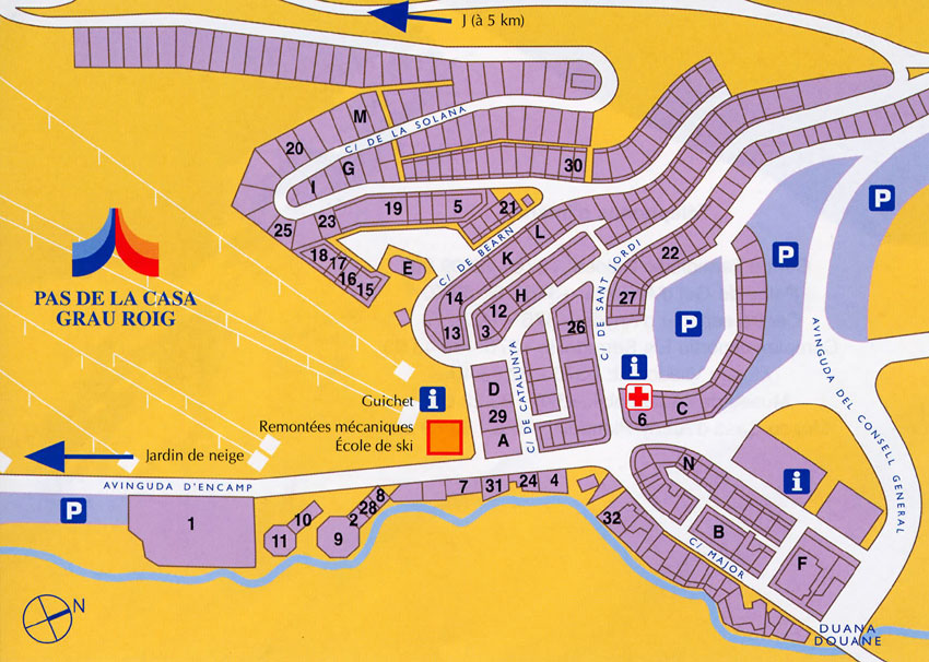 maps of pas de la casa ski resort in andorra sno. Black Bedroom Furniture Sets. Home Design Ideas