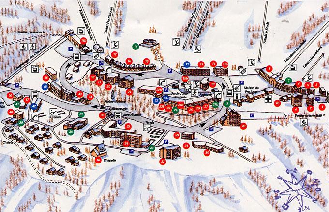 Maps Of Pra Loup Ski Resort In France Sno