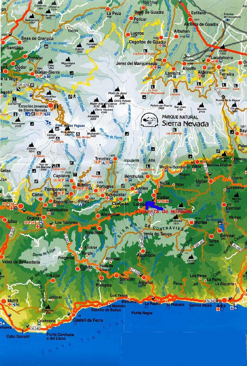 Full Map Of Spain.Maps Of Sierra Nevada Ski Resort In Spain Sno