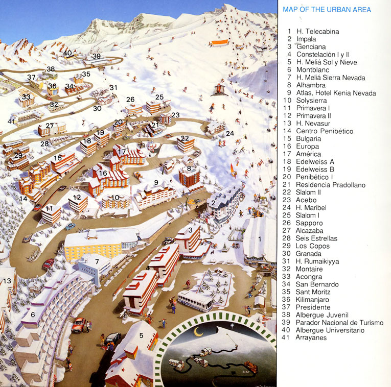 Sierra Nevada Spain  city images : Maps of Sierra Nevada ski resort in Spain | SNO ®