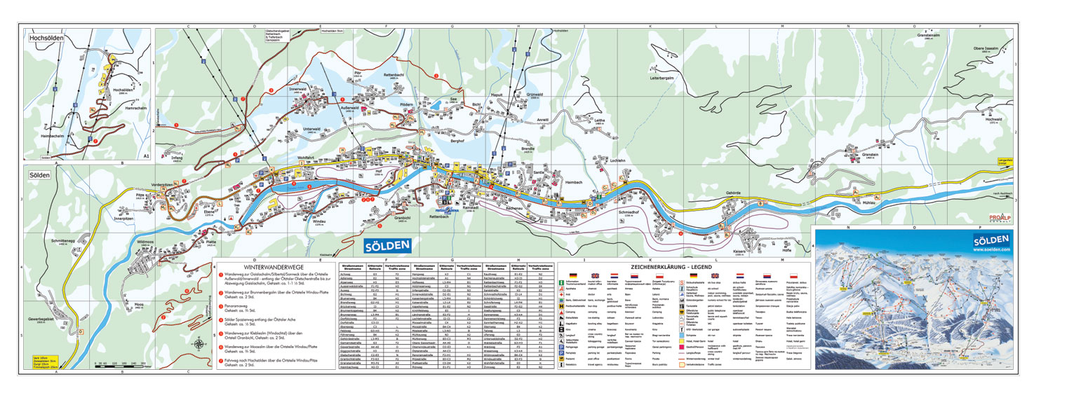 Maps Of Solden Ski Resort In Austria Sno