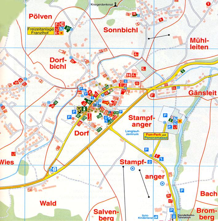 Maps Of Soll Ski Resort In Austria SNO - Road map of austria