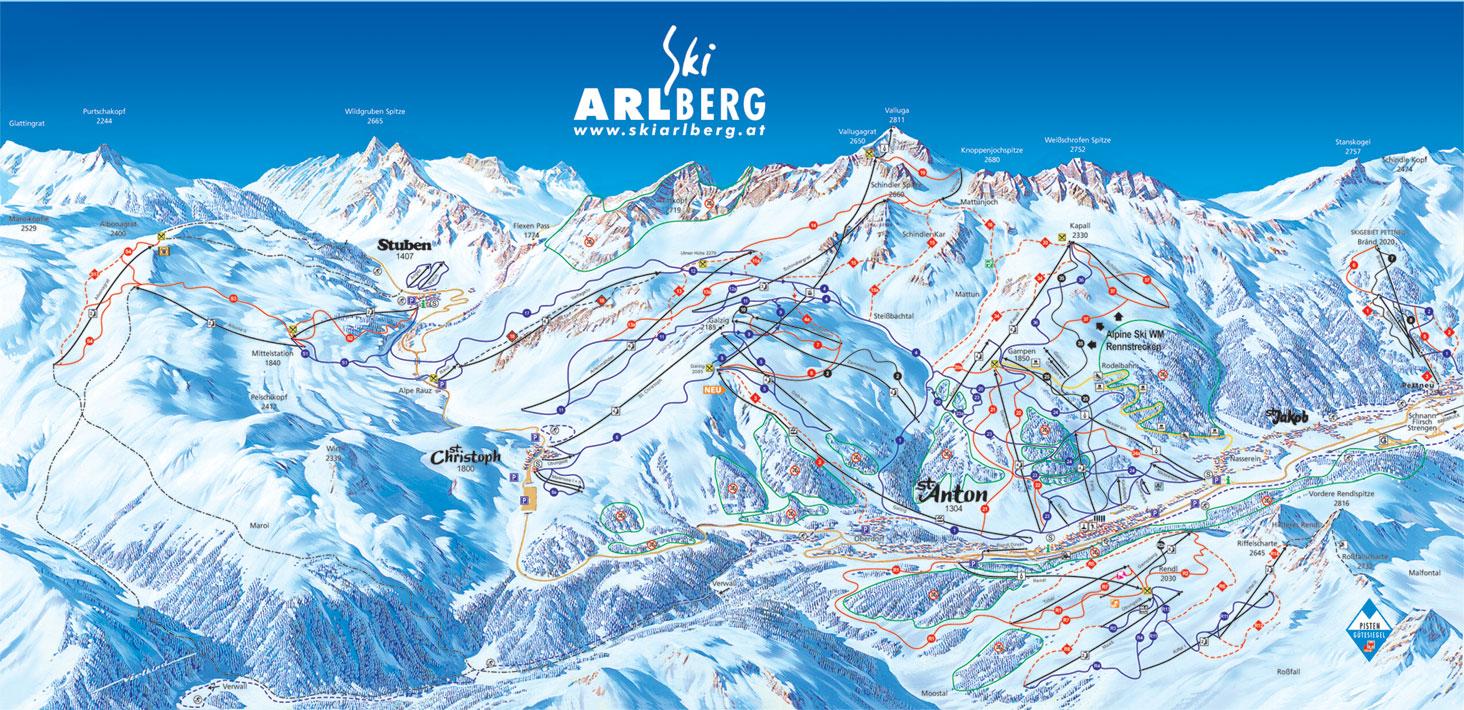 piste map St Anton