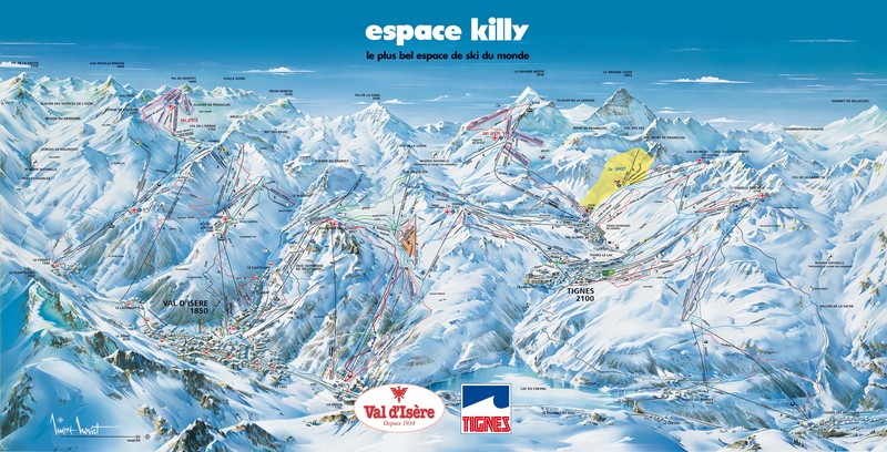 piste map Tignes