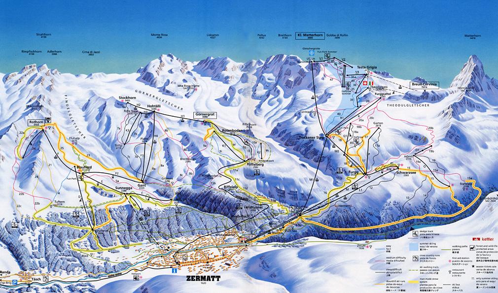 piste map Zermatt