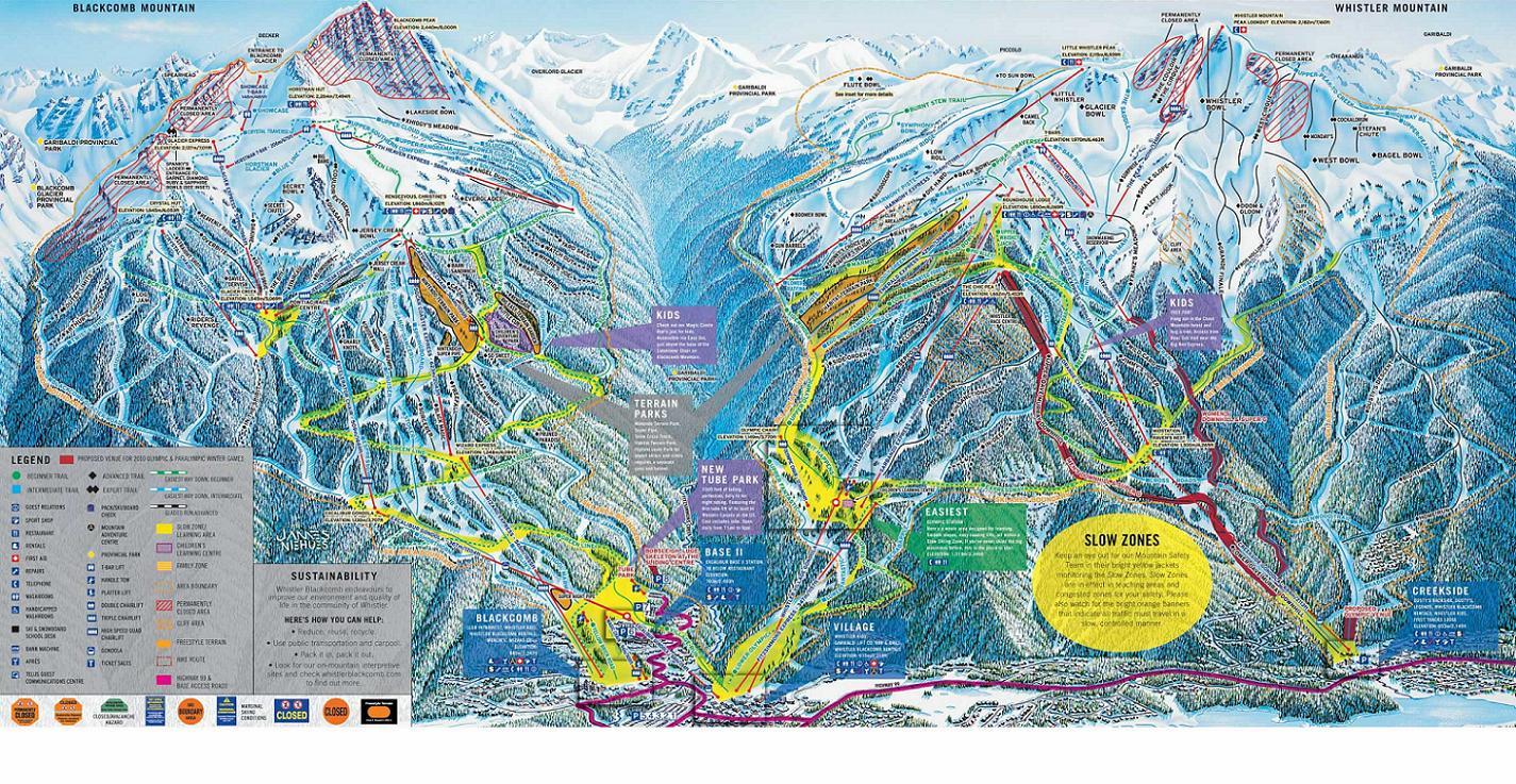 piste map Whistler