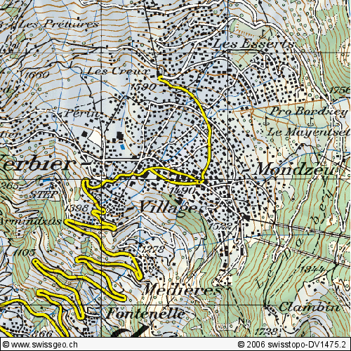 Maps of Verbier ski resort in Switzerland SNO