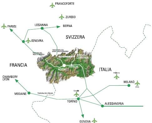 Maps of Valtournenche ski resort in Italy SNO