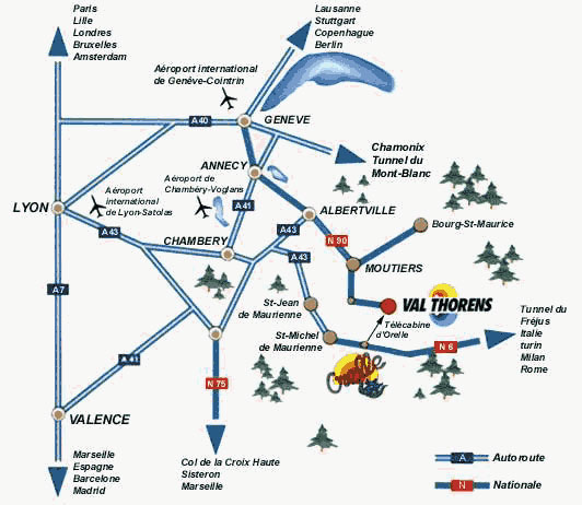 A4 Map Of France.Maps Of Val Thorens Ski Resort In France Sno