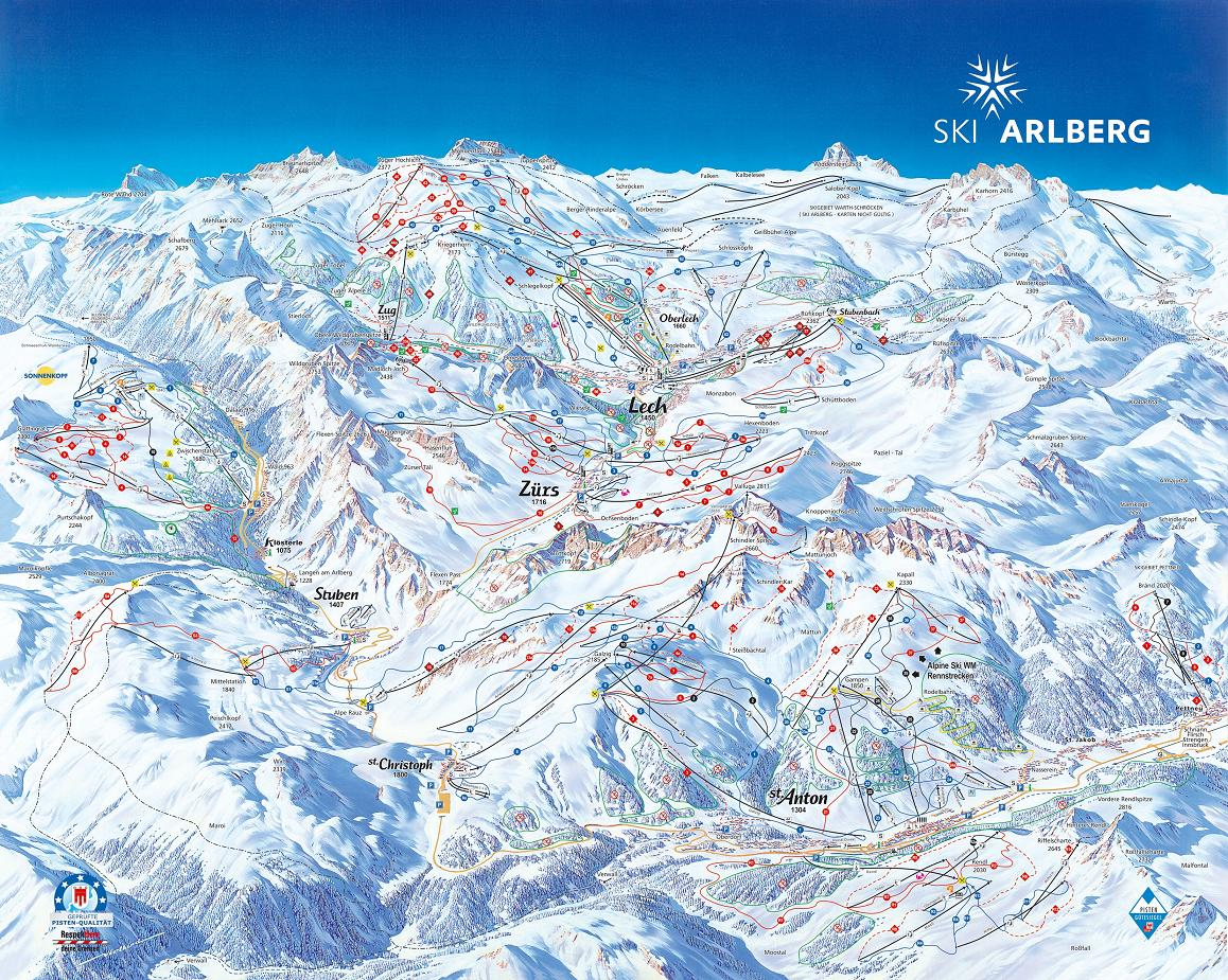 St Anton Hotels Map